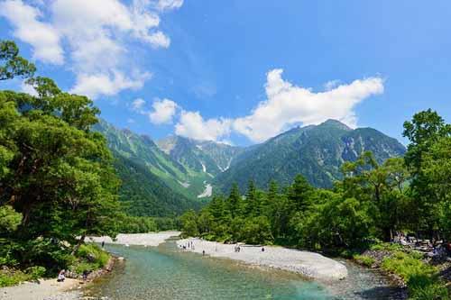 Chūbu Sangaku National Park and the Japanese Alps in Japan